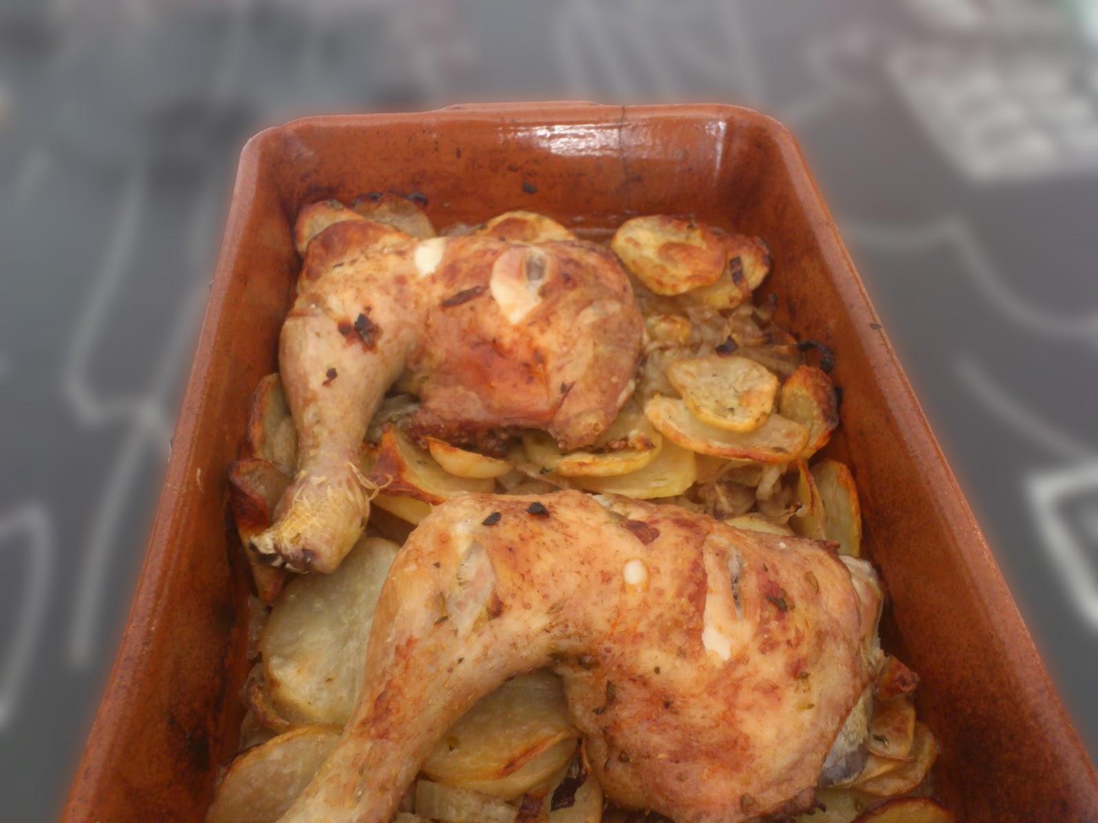 Cocina para Leones: Cuartos de pollo asados con patatas y ...