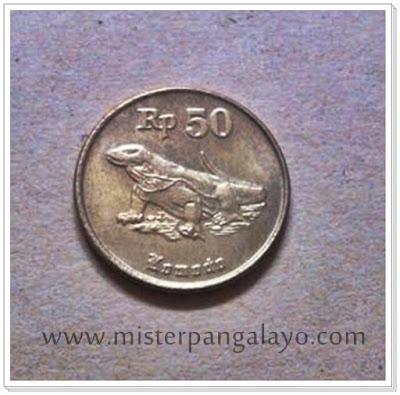 Uang logam pecahan 50 IDR, tahun 1991
