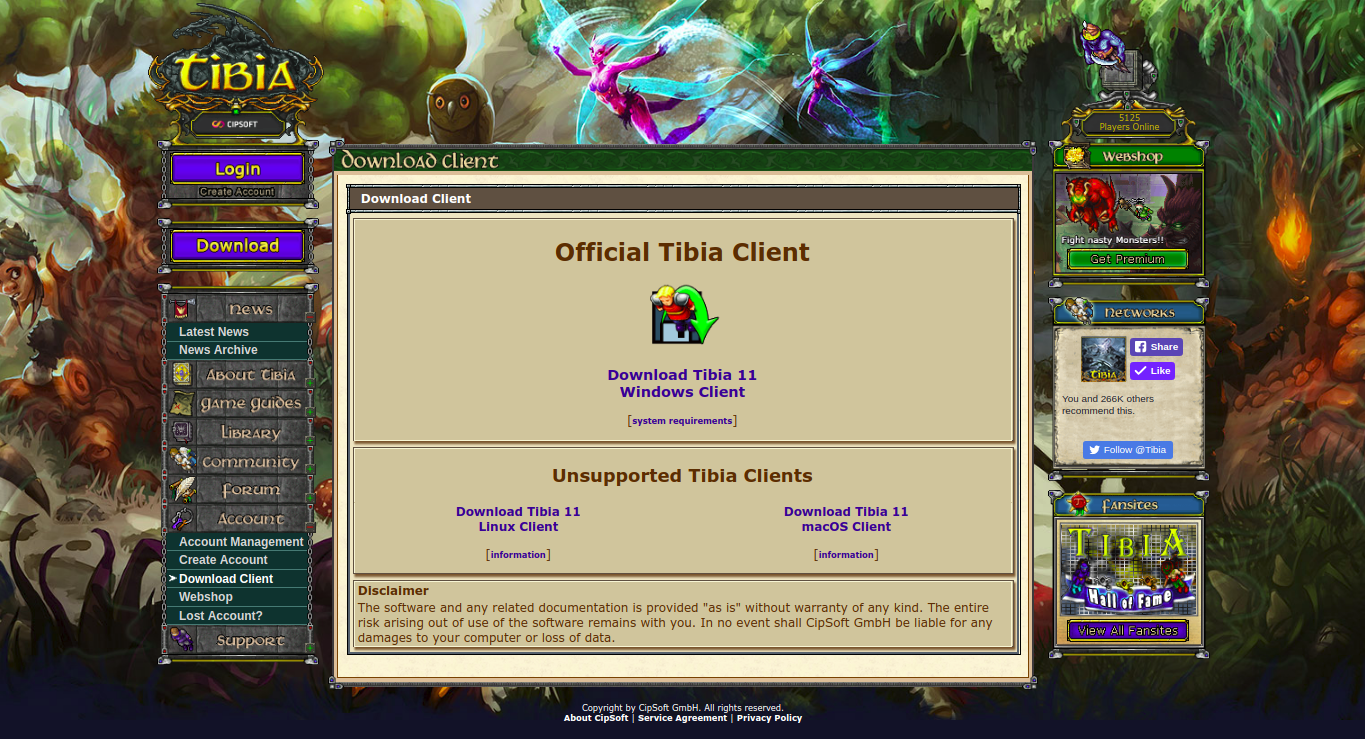 tibia client download