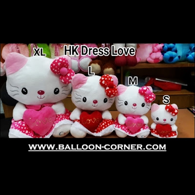 Boneka HELLO KITTY Dress Love (Ukuran S, M, L, XL)