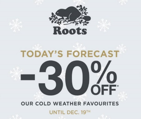 Roots 30% Off Cold Weather Favourites