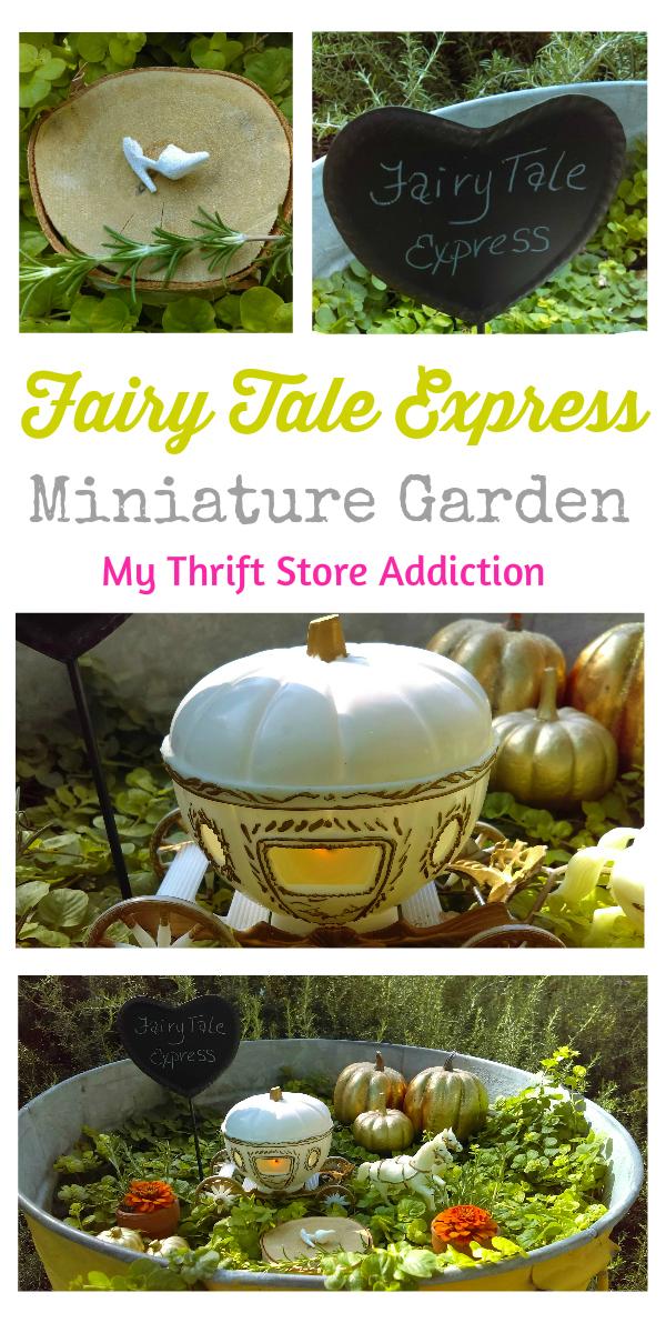Fairy Tale Express miniature garden