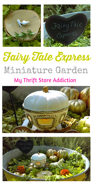Fairy Tale Express miniature garden