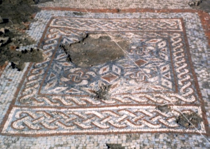 Roman villa mosaic from Stanwick Lakes goes on public display