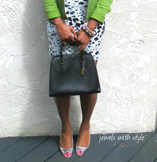 M Renee Design, Jewels with style, fashion blogger, black fashion blogger, wearing white after labor day, coach purse