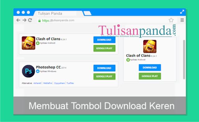 tombol download keren, seo dan responsive seperti jalan tikus.com