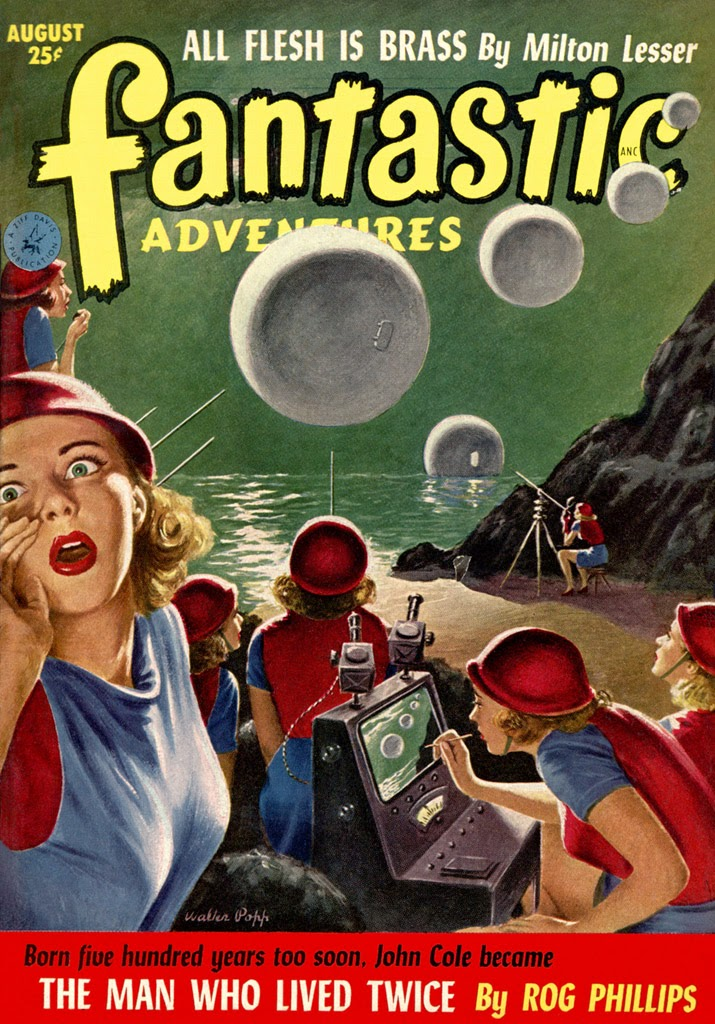 Fantastic Story Magazine 1950 Pulp Comic Books: The Geeky Nerfherder: Sci-Fi, Fantasy & Horror Cover Art