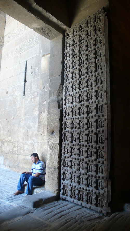 Aleppo Syria citadel horseshoe door