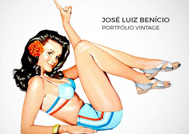 José Luiz Benício, Ilustrações de Benício, Vida e obra de José Luiz Benício, A história de José Luiz Benício, Benício o mestre das pinu-ups brasileiro