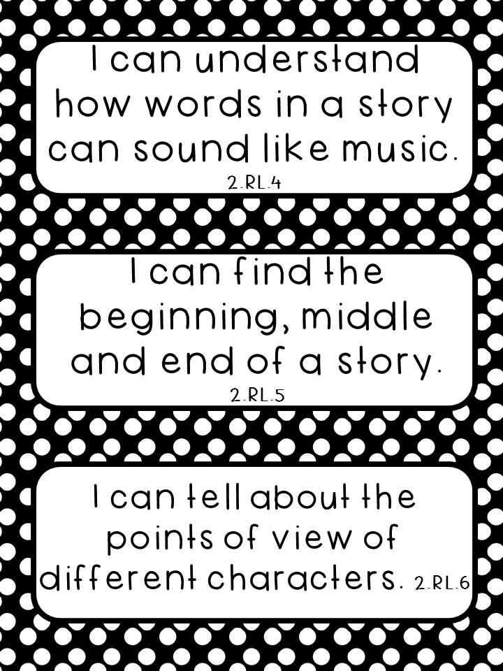 Thrifty in Third Grade: Free Second Grade I Can Statements!