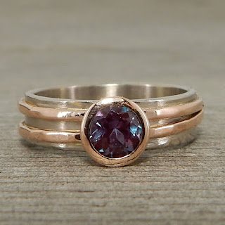 asymmetrical alexandrite ring