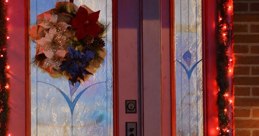 New Legacy Steel Door and Christmas Decorating