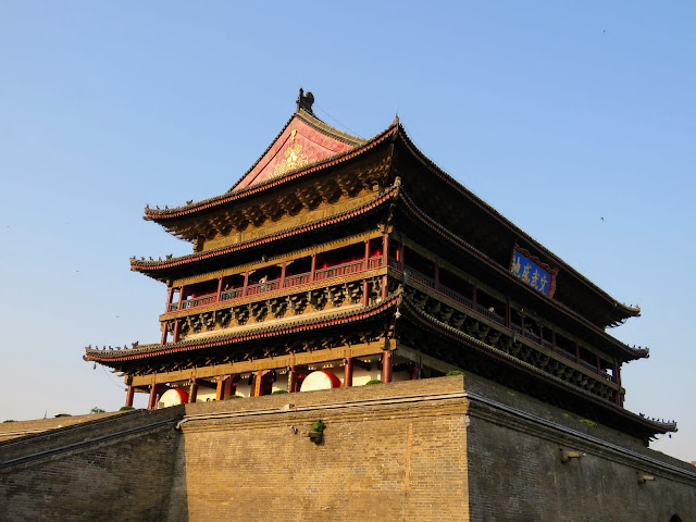 Drum tower during the golden hour in Xi'an China