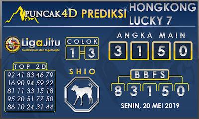 PREDIKSI TOGEL HONGKONG LUCKY7 PUNCAK4D 20 MEI 2019