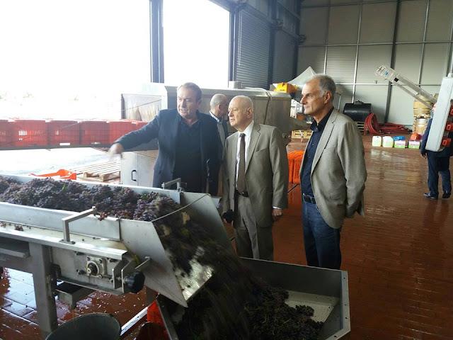 Επίσκεψη του Υπουργού Οικονομίας Ανάπτυξης και του βουλευτή  Γ.Γκιόλα σε Αργολικό οινοποιείο