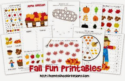 fall theme printables for preschool