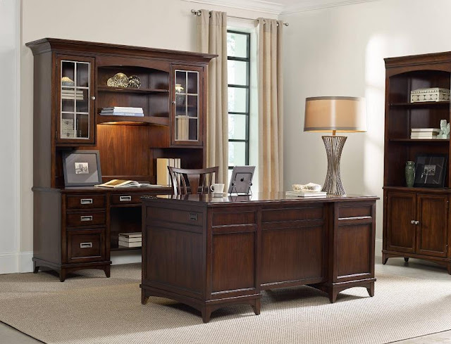 best dark wood traditional home office desk credenza for sale