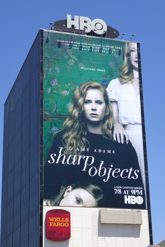 Giant Amy Adams Sharp Objects series premiere billboard