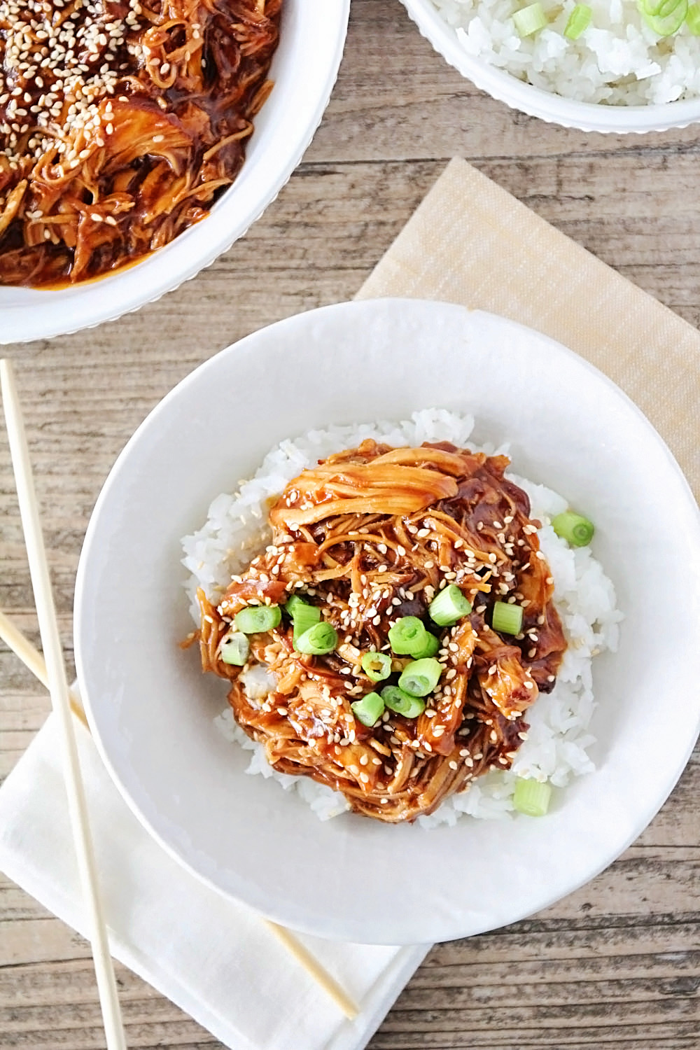 This simple and flavorful Instant Pot honey sesame chicken is ready in under an hour, and so delicious!