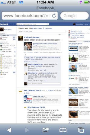 Facebook Home Page Desktop Site