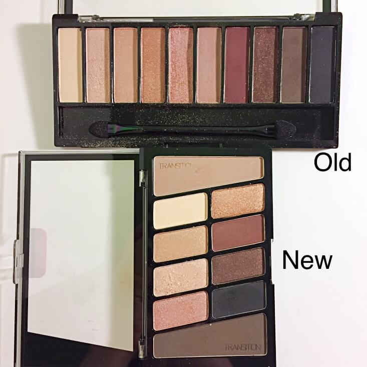 wet n wild coloricon 10 Pan Eyeshadow Palette old vs new Nude Awakening