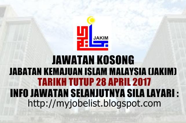Jawatan Kosong Terkini di JAKIM April 2017