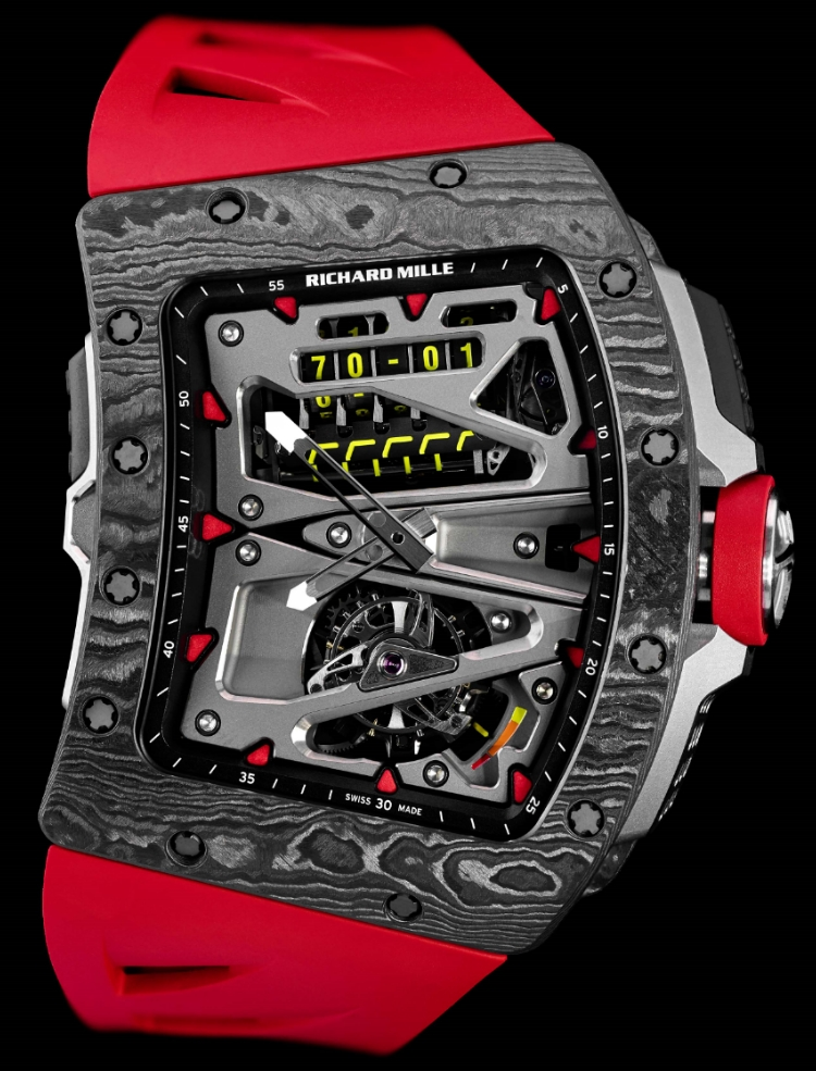 j 39 aime les montres la montre du jour richard mille rm 70 01 tourbillon alain prost. Black Bedroom Furniture Sets. Home Design Ideas