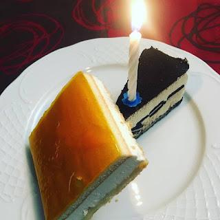 tartas, velas, feliz cumpleaños