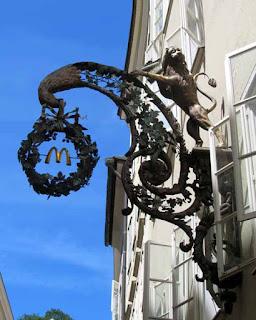 Medieval McDonalds Arches Salzburg Austria
