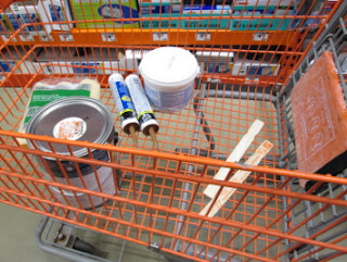 paint and supplies from Home Depot