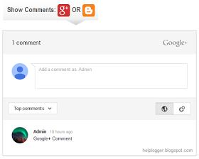 Tampilkan dan sembunyikan komentar google plus blog