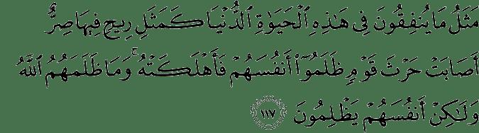 Surat Ali Imran Ayat 117