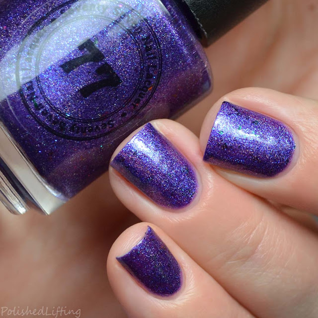 holographic purple nail polish