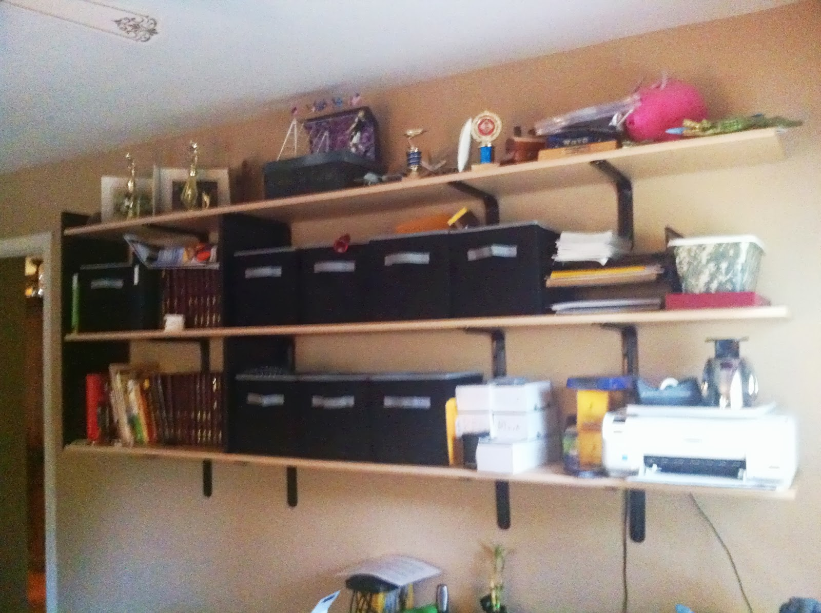 Basically Organized: Wall Shelves Give The Kids Tons Of