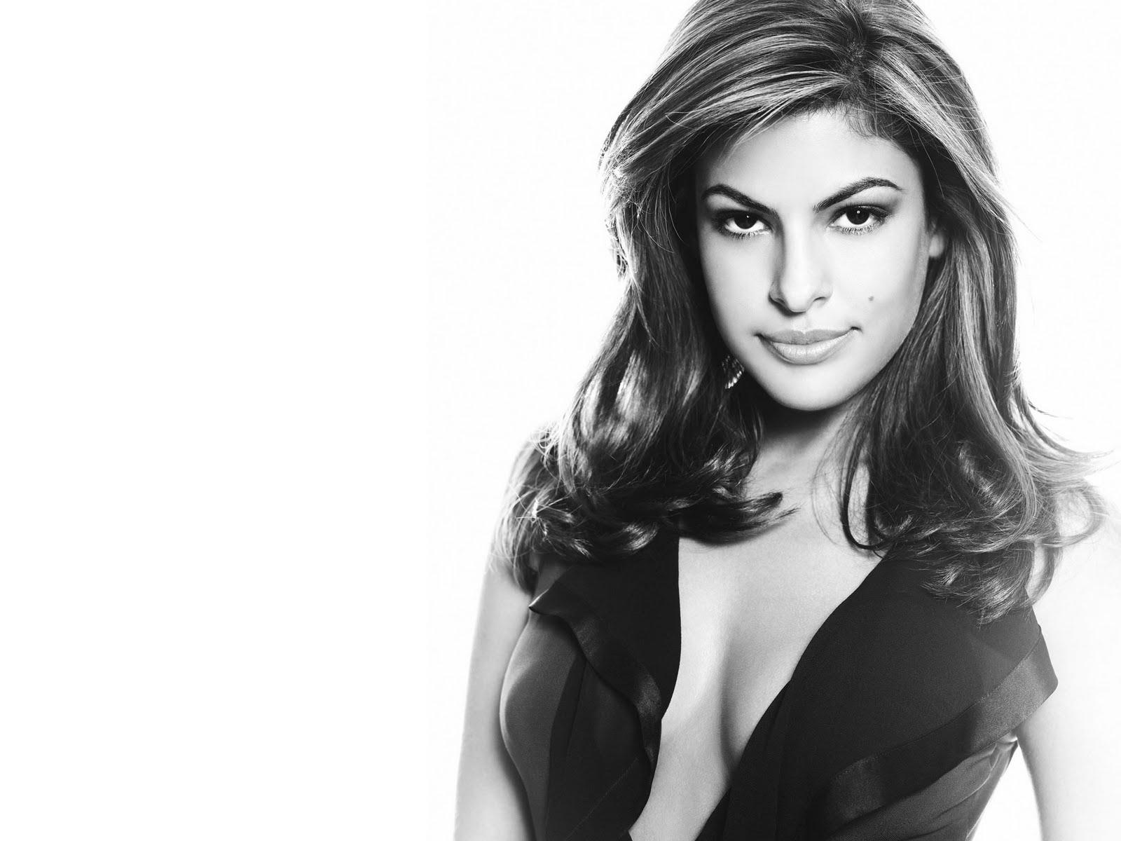 Eva mendes sexy wallpaper shoulders down