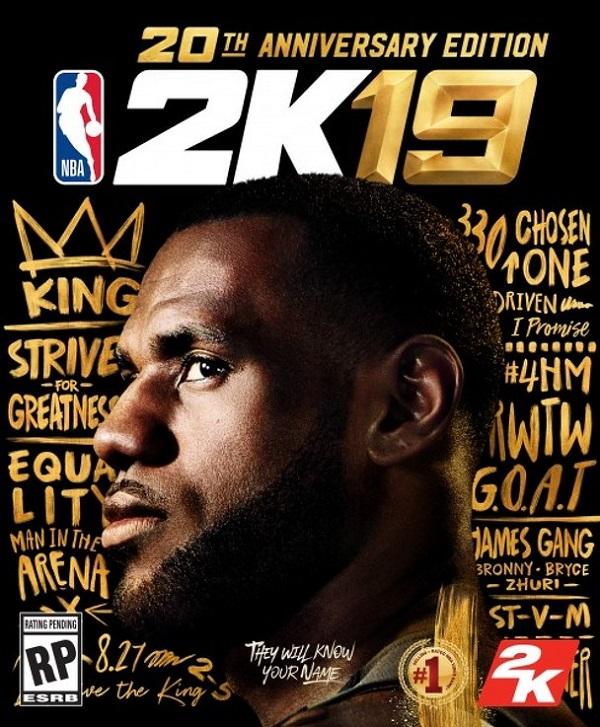 LeBron NBA 2K19 Anniversary Edition Cover Star