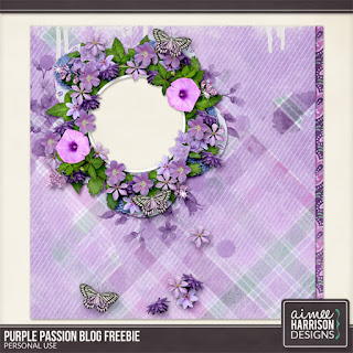 Creative Team, Annemarie, for GingerScraps -  Purple Passion Collection by Aimee Harrison and Freebie QP
