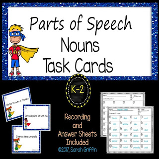 https://www.teacherspayteachers.com/Product/Parts-of-Speech-Nouns-Task-Cards-Center-3168552