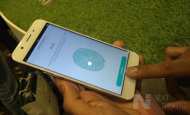 OPPO F1s fingerprint sensor
