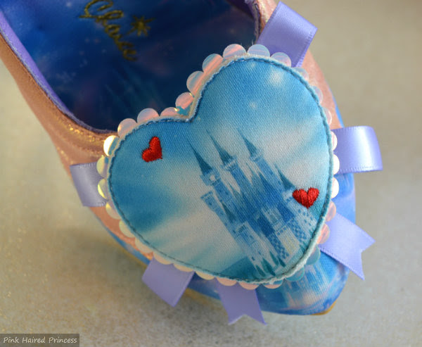 irregular choice faith in dreams shoe castle heart detail