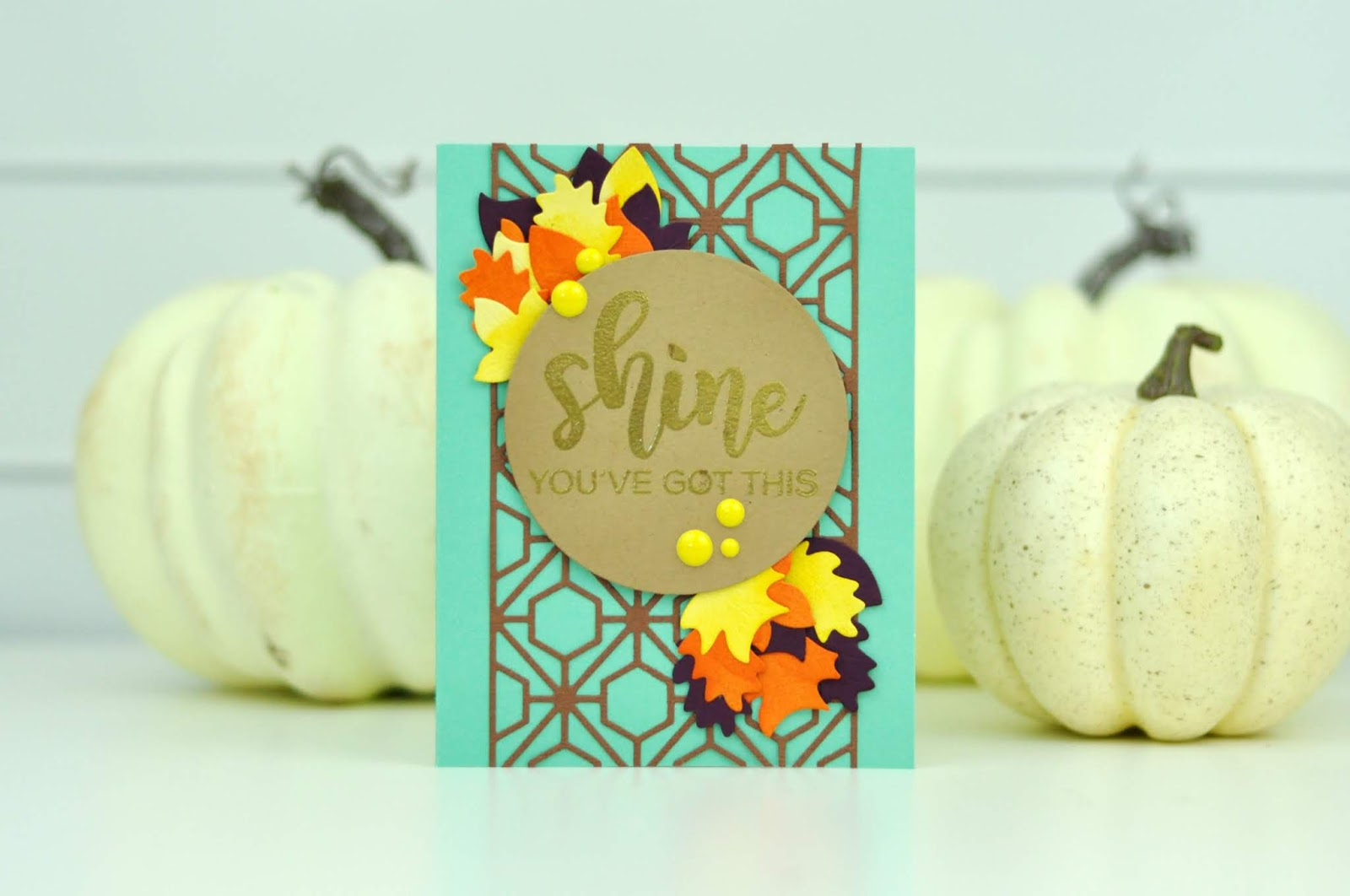 Spellbinders Shine Autumn Card