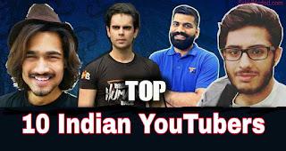 Top 10 Indian YouTuber Jo Youtube Se Sabse Zyada Paise Kamate Hai