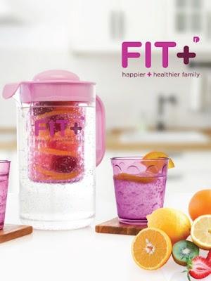 Fit + Infuser Jug Ungu - Happier & Healthier Family