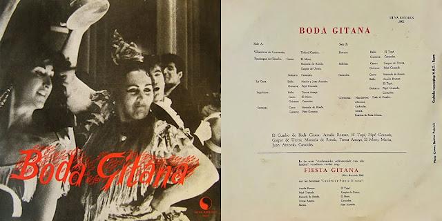 """GASPAR DE UTRERA, CARACOLES, PEPE GRANADA EL CUADRO """"BODA DE SANGRE"""" LP SILVA RECORDS 1958 DISCO CONJUNTO DE UN CUADRO DE FLAMENCO"""
