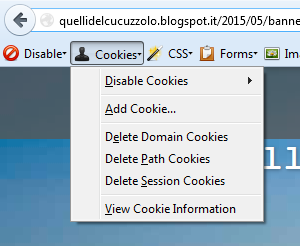 web-developer cookies