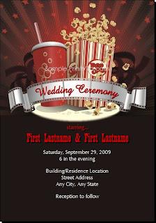 Movie Themed Wedding Invitations Vintage Movie Themed Wedding