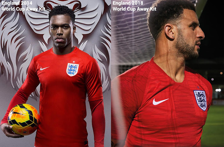 2670eeb1 Now a Tweet about the similaritiy of England's 2014 World Cup and 2018  World Cup away jerseys made the waves on social media.
