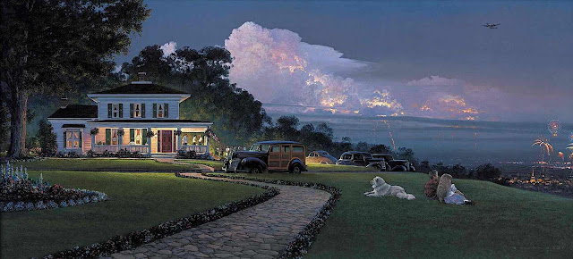 William S. Phillips, lightning clouds