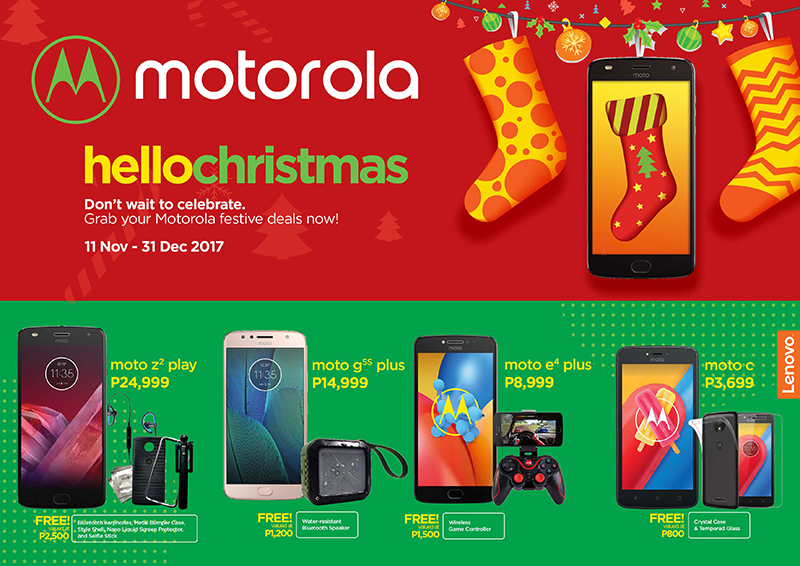 Motorola smartphones come w/ freebies this Holiday Season!