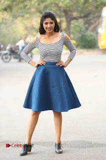 Telugu Actress Roshini Prakash Stills Short Dress at Saptagiri Express Release Press Meet  0251.JPG